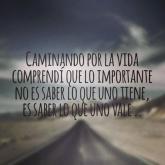 lo importante en la vida es