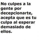 No culpes a la gente