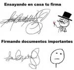 Firma de documentos importantes